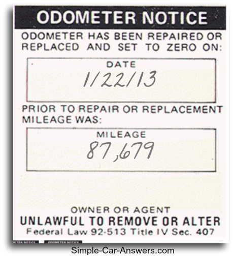 Odometer Mileage Tampering, 4 signs to look for